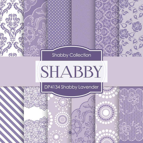 Shabby Lavender Digital Paper DP4134 - Digital Paper Shop - 1