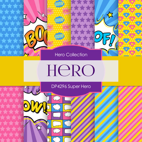 Super Hero Digital Paper DP4296
