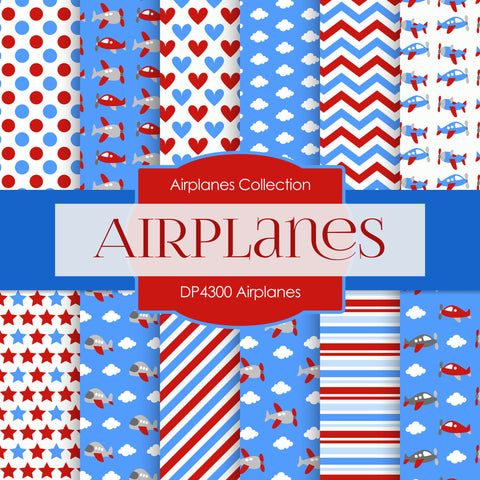 Airplanes Digital Paper DP4300