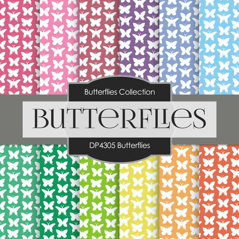 Butterflies Digital Paper DP4305A