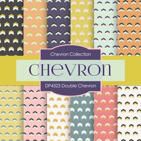 Double Chevron Digital Paper DP4323
