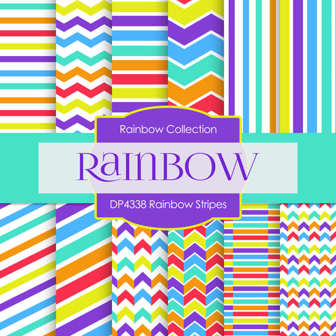 Rainbow Stripes Digital Paper DP4338