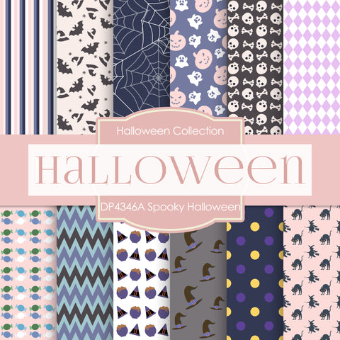 Spooky Halloween Digital Paper DP4346A