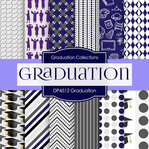 Graduation Digital Paper DP4512 - Digital Paper Shop - 1