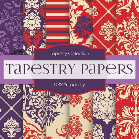 Tapestry Digital Paper DP525 - Digital Paper Shop - 1