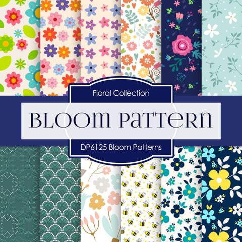 Bloom Patterns Digital Paper DP6125A