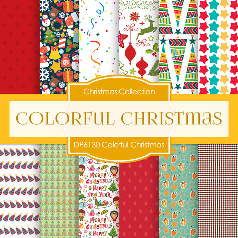 Colorful Christmas Digital Paper DP6130A