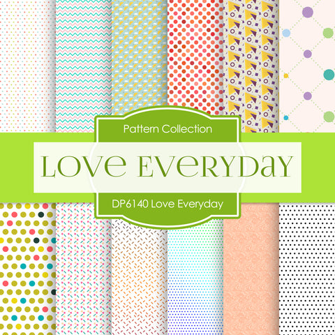 Love Everyday Digital Paper DP6140A