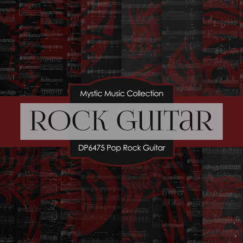 Pop Rock Guitar Digital Paper DP6475