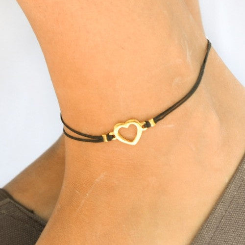 Heart Cord Anklet