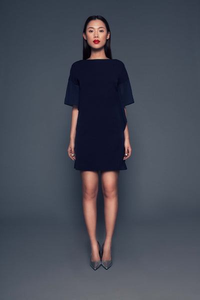 Elin Dress | Mini dress with sheer batwing sleeves