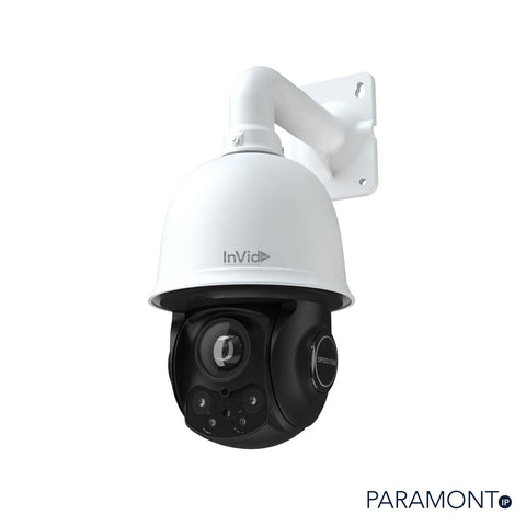 3 Megapixel IP Plug & Play, Outdoor PTZ, 20x Zoom, 328' EXIR Range, SD Card Slot, AC24V, White Housing, Wall Mount & PS Included