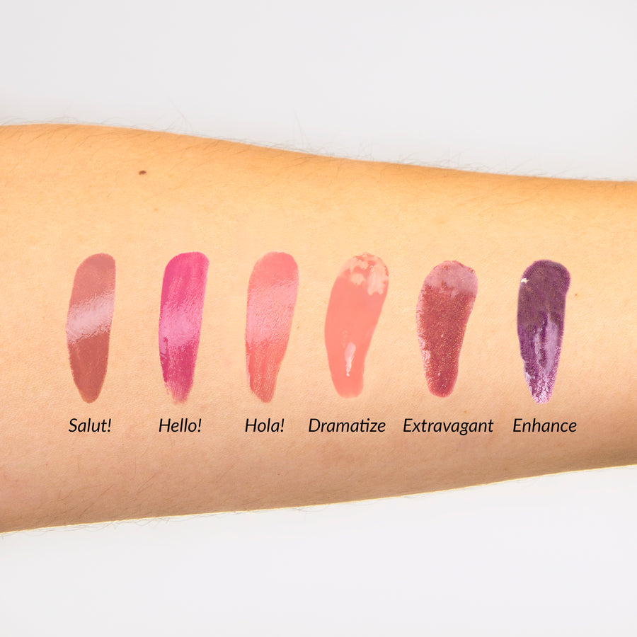 Mini Lip Gloss Kit Vol. 1 -- Set of 6 Mini Lip Shades