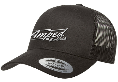 Worldwide Trucker Snapback in Black