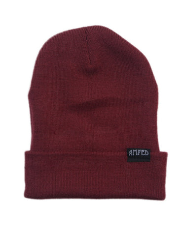 Primary Beanie in Burgundy