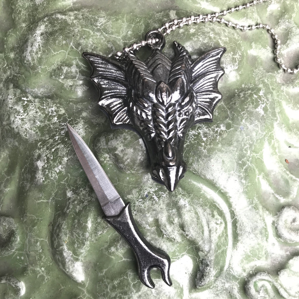 Dragon Dagger Athame Necklace