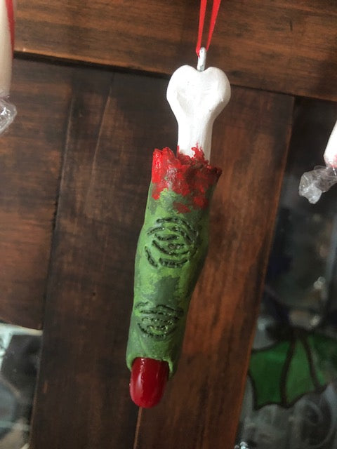 Zombie Finger Ornament