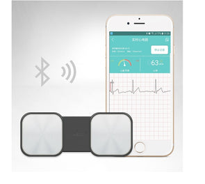 Handheld ECG Heart Monitor for Wireless Heart Performance Without ECG Electrodes Required for ios Android - Biometric Sports Solutions
