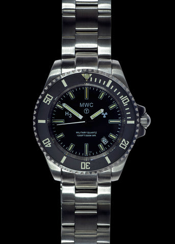 MWC 300m Military Quartz Divers Watch with Tritium GTLS and Sapphire Crystal on Matching Bracelet