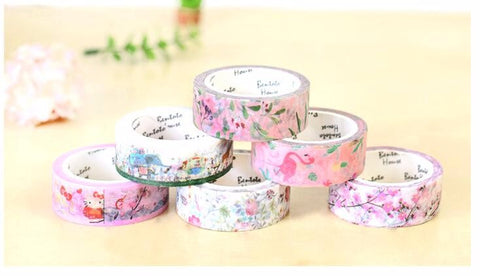 Leaves & Flowers Decorative Tape DIY Scrapbooking Masking Tape