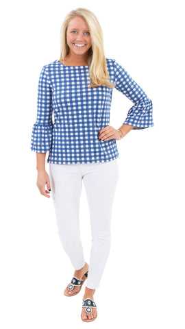 Haley Top - Picnic Check Navy/White