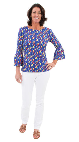 Haley Top - Little Buoys Red/Yellow/Blue