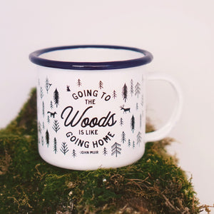 Enamel Co. - 12oz Going to the Woods Mug