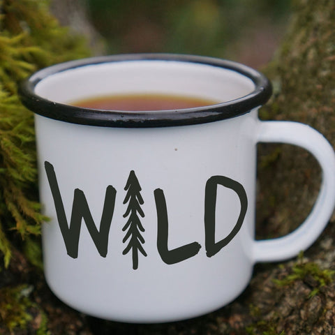 Enamel Co. - 12oz Wild Pine Tree Hiking Enamel Mug