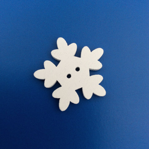 Wooden Snowflake Button