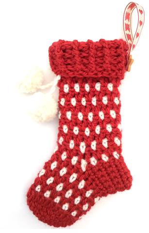 COTTON POD Crochet Pattern - Blitzen Stocking (PDF download)