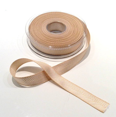 Buy Berisfords Ecru (3014) Herringbone ribbon from Cotton Pod