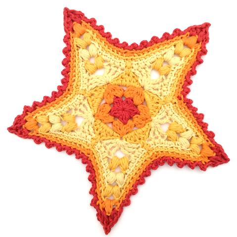 Starfish Applique Crochet Pattern by Cotton Pod