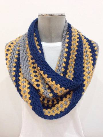Cut the Mustard Infinity Scarf Crochet Kit by Cotton Pod uk