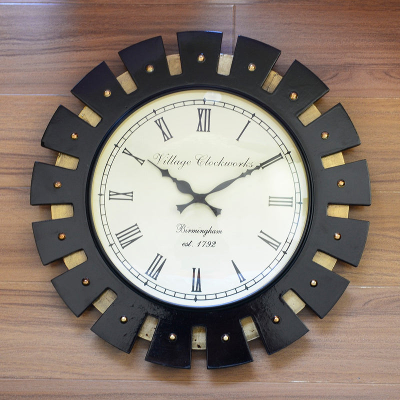 Wooden Polish Wall Clock