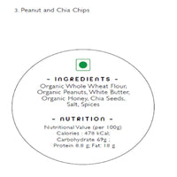 Handmade Peanut And Chia Chips (Pack of 2)