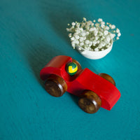 Eco-Friendly Wooden Race Car (Red)