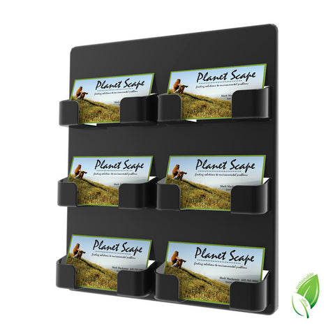 6 Compartment Business Card Holder