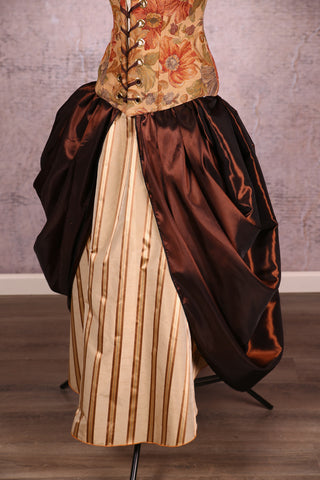 Split Front Overskirt Brown Shimmer - BB