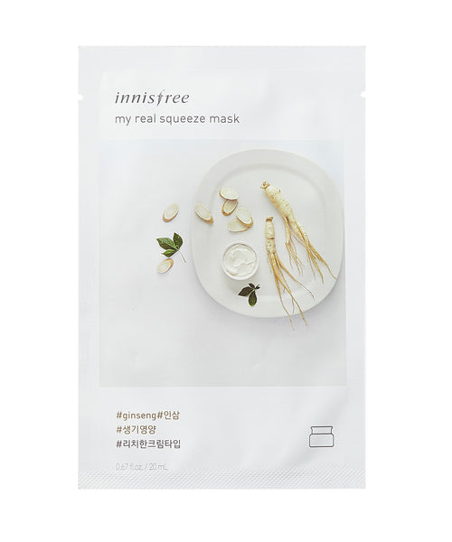 Innisfree My Real Squeeze Mask Sheet 5pcs - Ginseng