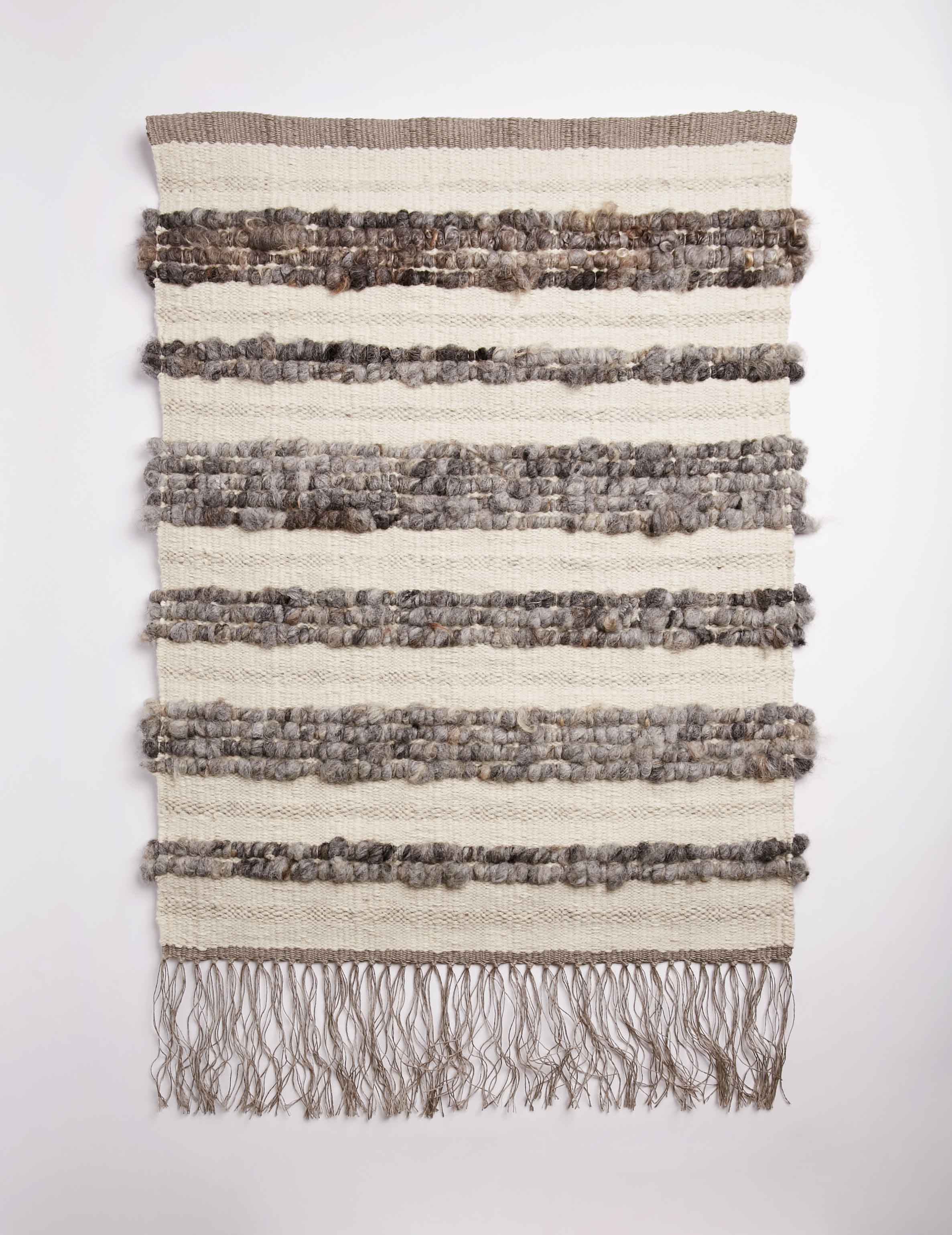 Raw Fleece Wall Hanging - Dry Stone II