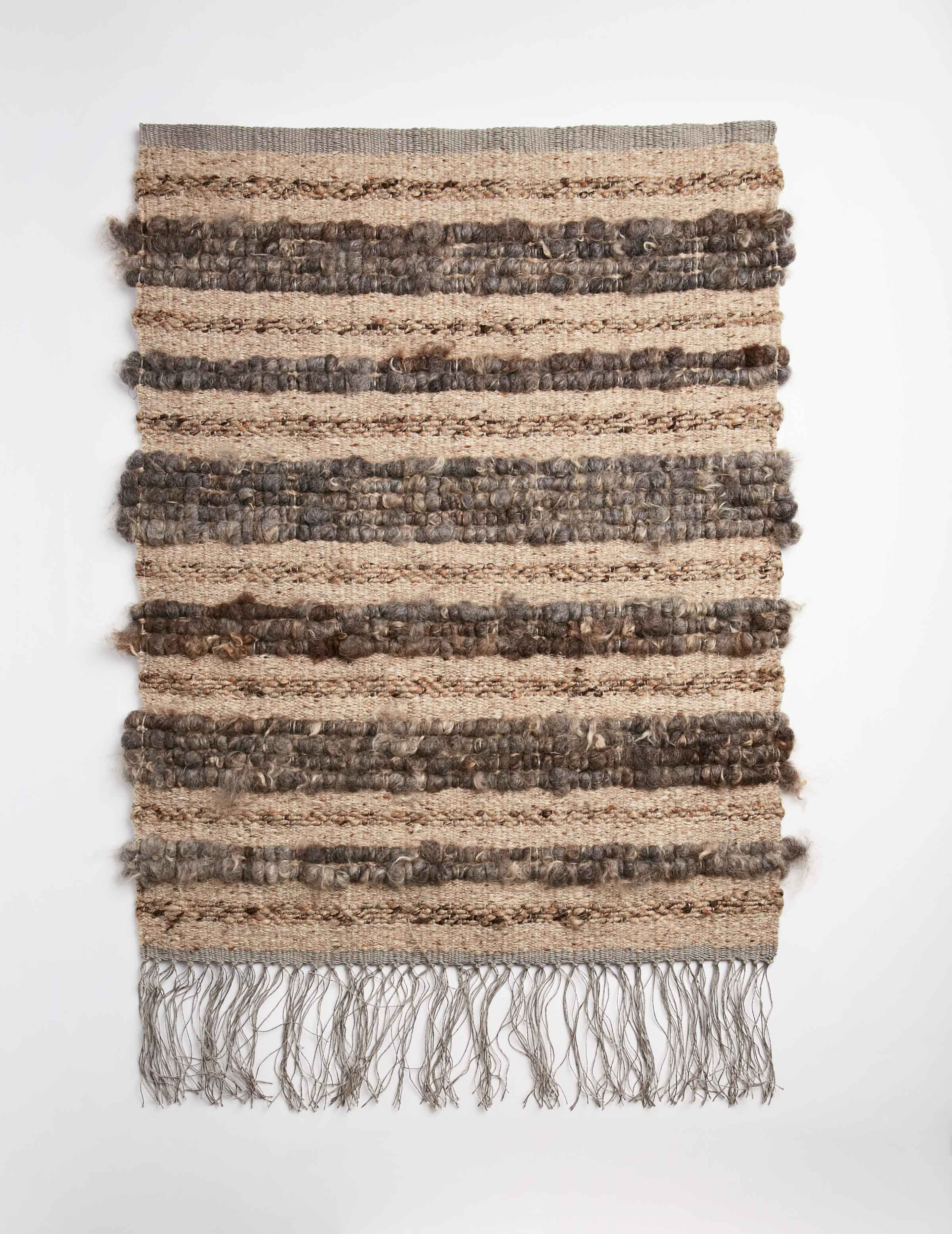 Raw Fleece Wall Hanging - Faded Bracken