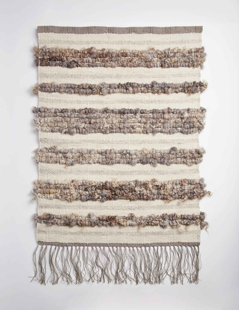 Raw Fleece Wall Hanging - Dry Stone III