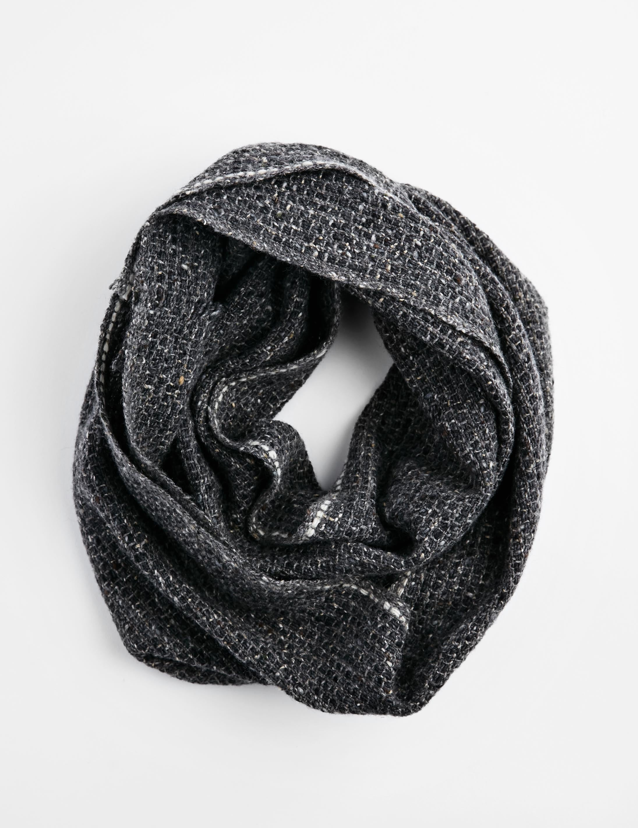 Tweed Emphasize Neck Warmer - On the Road - Single White