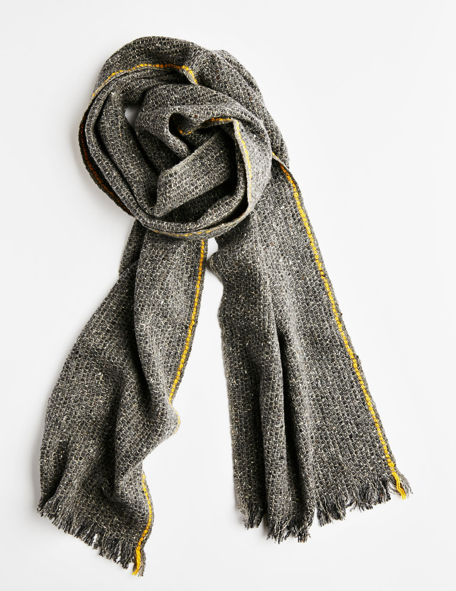 Tweed Emphasize Scarf - On The Road - Single Yellow