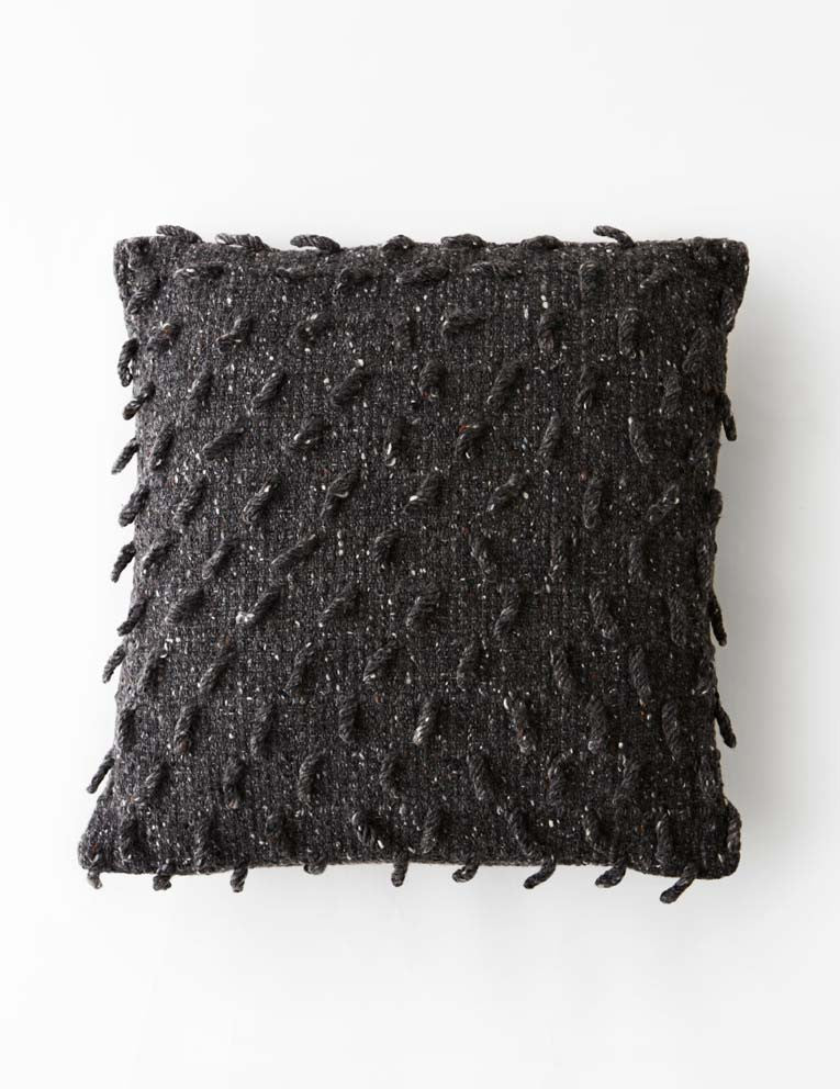Shaggy Dog Cushion - Charcoal Grey