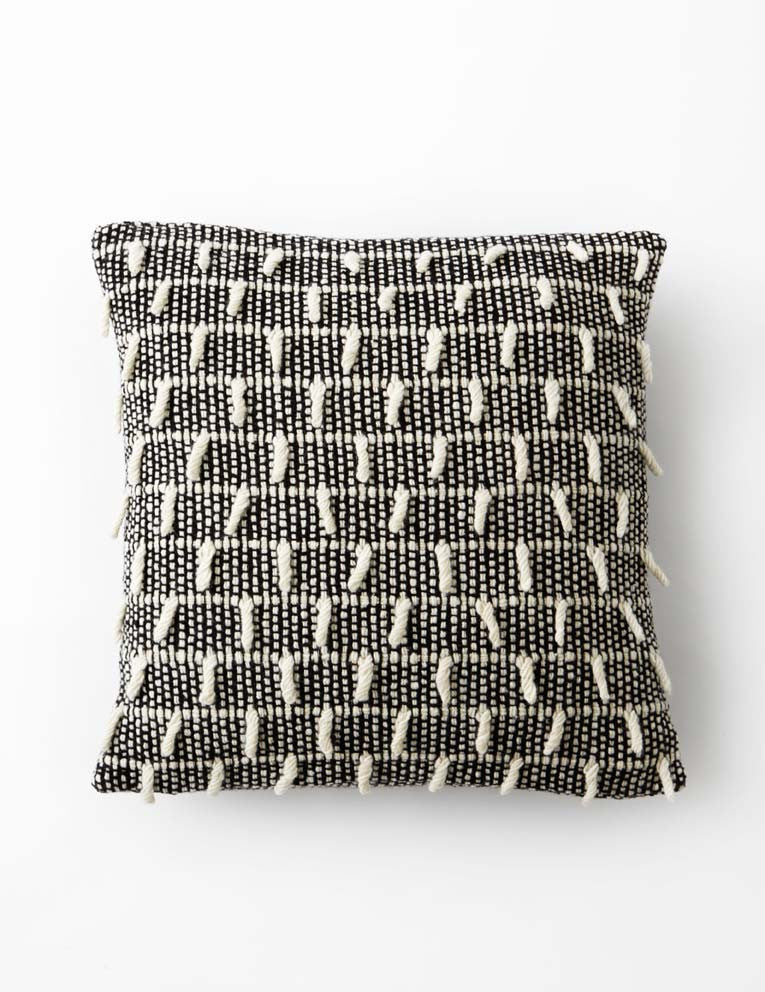 Shaggy Dog Cushion - Monochrome - VII