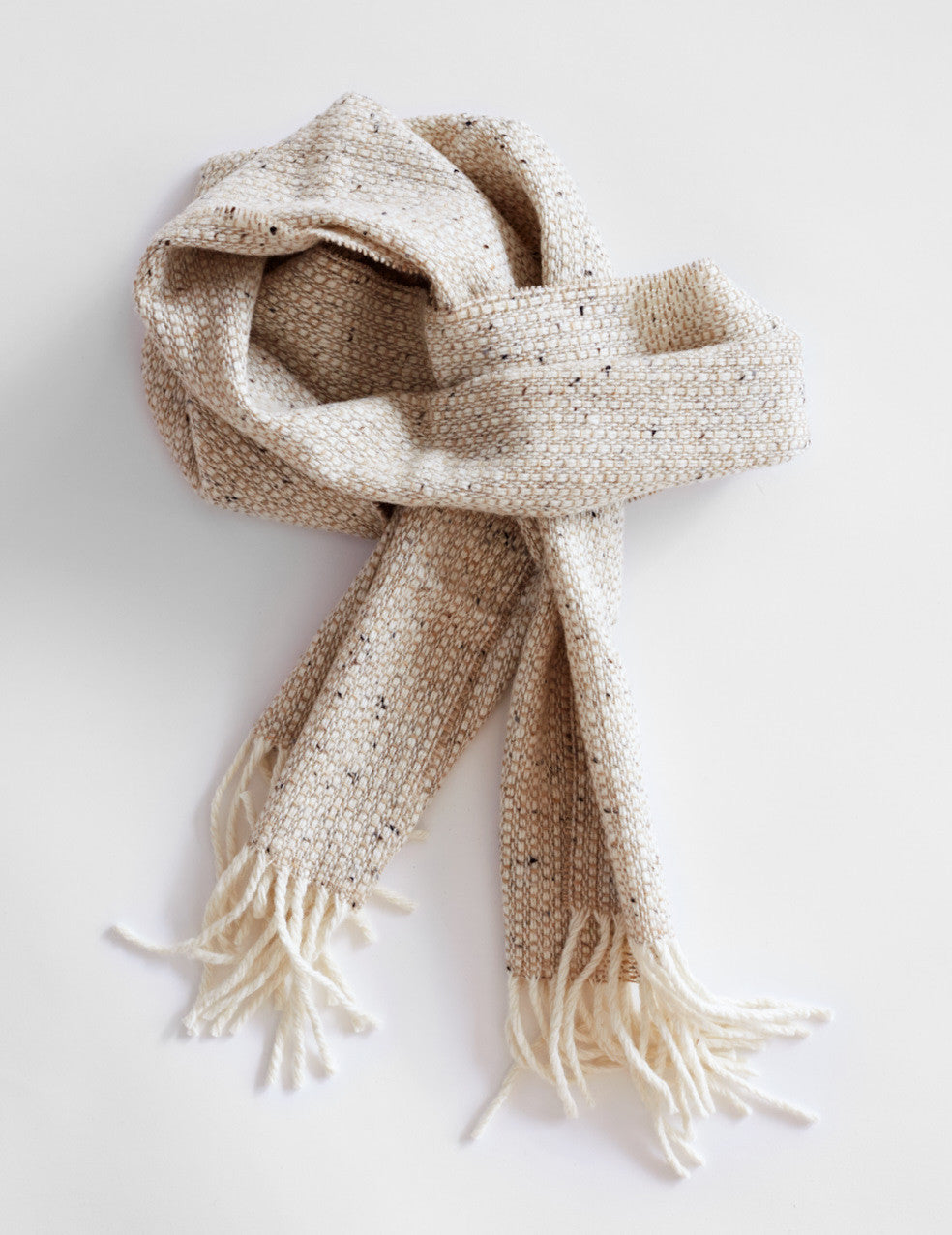 Tweed Emphasize Scarf - Oatmeal - Narrow