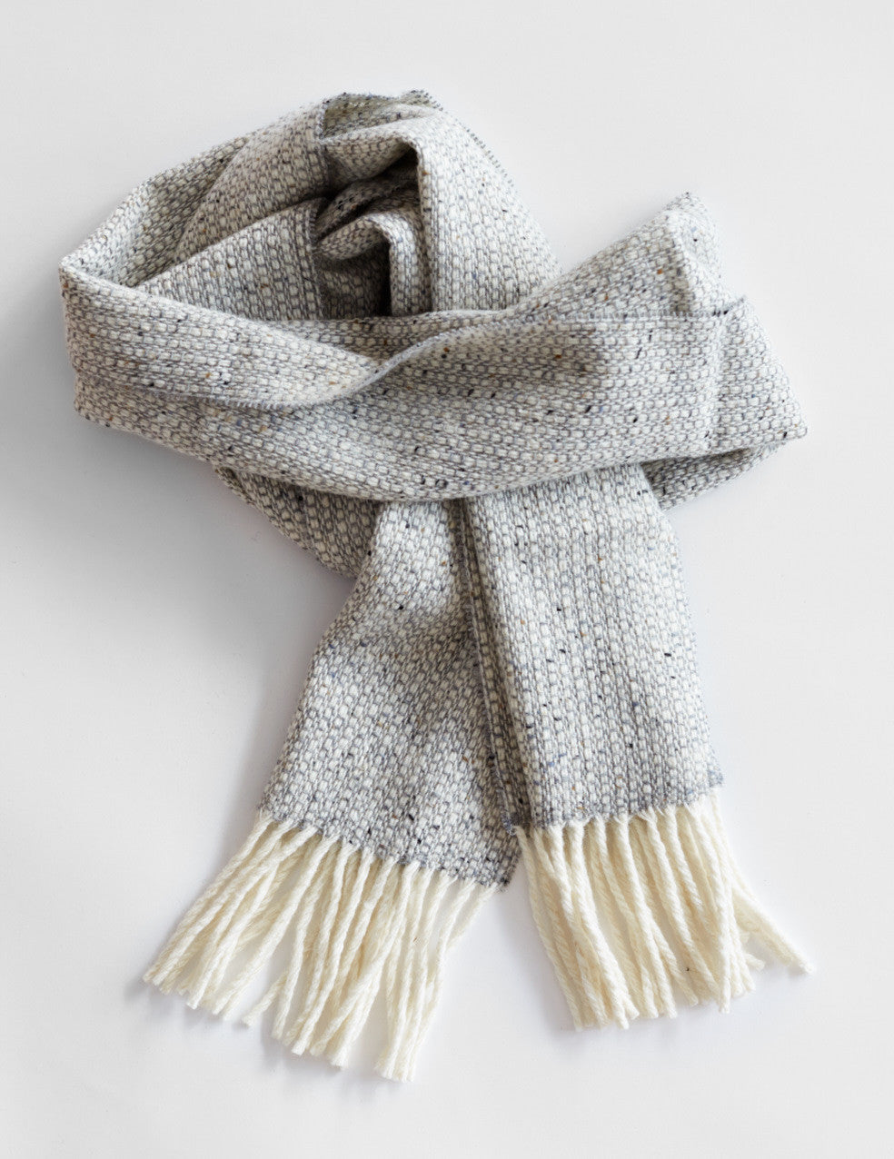Tweed Emphasize Scarf - Silver Grey - Narrow
