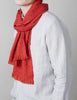 Tweed Emphasize Scarf - Pink Orange Mix - Narrow