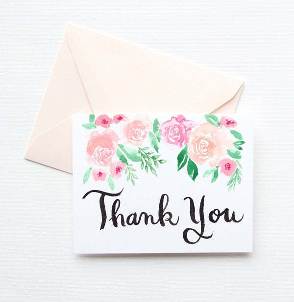 SPRING HAS SPRUNG THANK YOU CARD